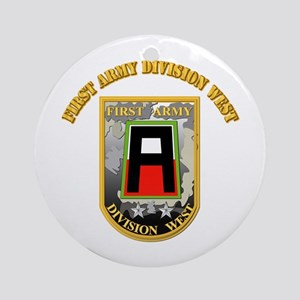 SSI - First Army Division West with Text Ornament