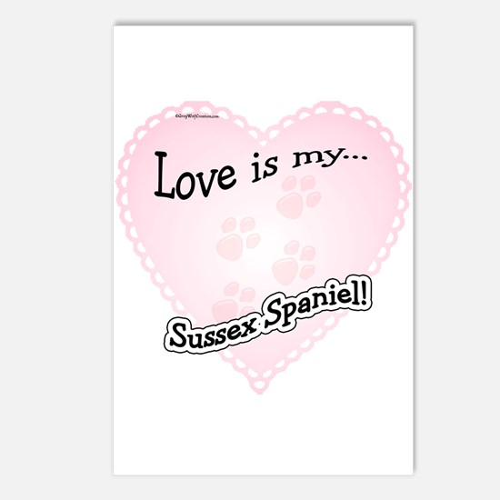 Love is my Sussex Spaniel Postcards (Package of 8)