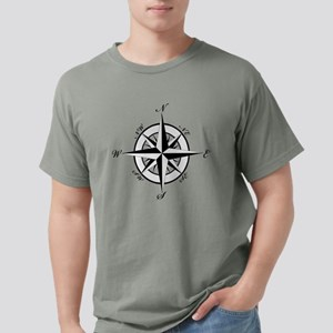 Vintage Compass Mens Comfort Colors Shirt