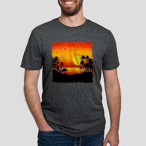 Island Sunset Mens Tri-blend T-Shirt