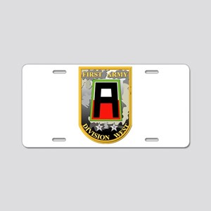SSI - First Army Division West Aluminum License Pl