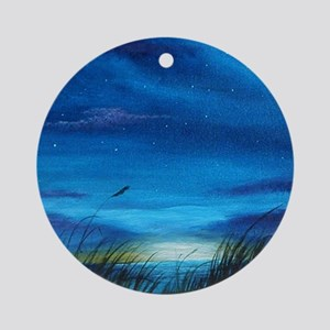Lighthouse at Sunrise Ornament (Round)