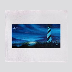Lighthouse at Sunrise Throw Blanket