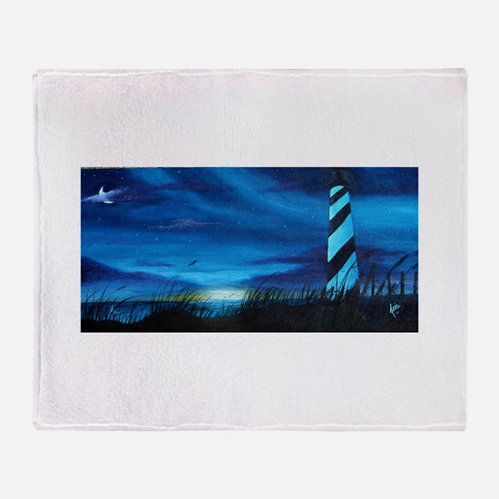 Lighthouse at Sunrise Throw Blanket