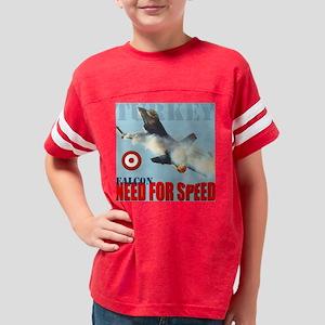 f-16 falcon burn turkey Youth Football Shirt