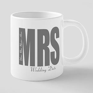 Wedding Mrs 20 oz Ceramic Mega Mug