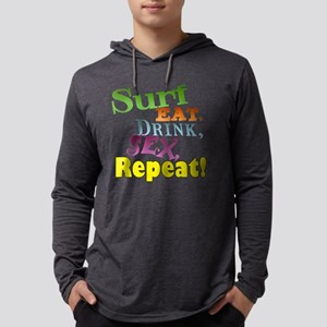 Surf Style Mens Hooded Shirt
