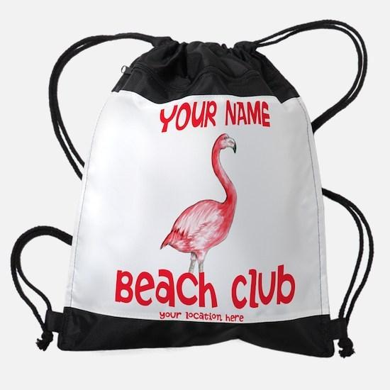 Custom Beach Club Drawstring Bag