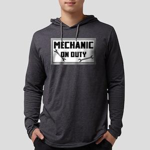 mechanic on duty Mens Hooded Shirt