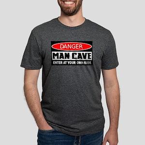 own risk man cave Mens Tri-blend T-Shirt