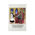 Sleeping in Church Rectangle Magnet (10 pack)