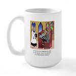 Sleeping in Church Large Mug