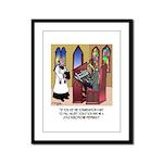 Sleeping in Church Framed Panel Print