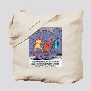 Hell's Freezing Over Tote Bag