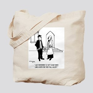 Punchlines in Church Tote Bag