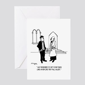Punchlines in Church Greeting Card