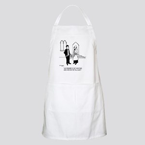 Punchlines in Church Apron