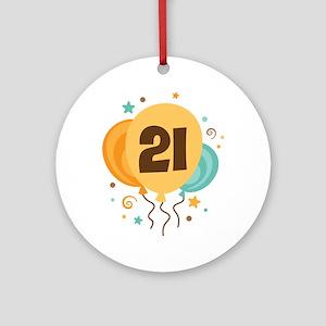 21st Birthday Party Ornament (Round)
