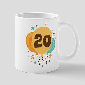 20th Birthday Party Mug