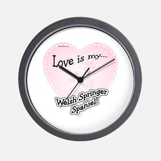 Love is my Welsh Springer Spaniel Wall Clock