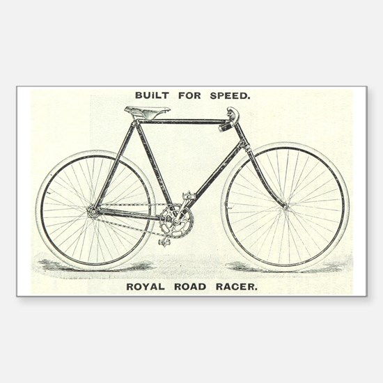 Cute Vintage cycling Sticker (Rectangle)