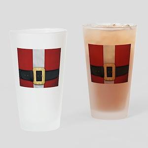 Santa Suit Christmas Drinking Glass