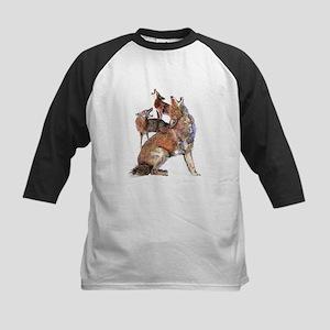 Watercolor Howling Coyotes Animal Art Baseball Jer