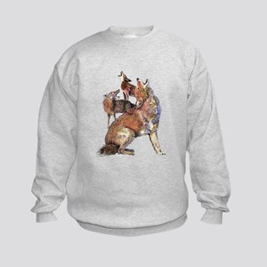 Watercolor Howling Coyotes Animal Art Jumpers