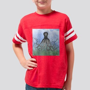 Watercolor Octopus shower cur Youth Football Shirt
