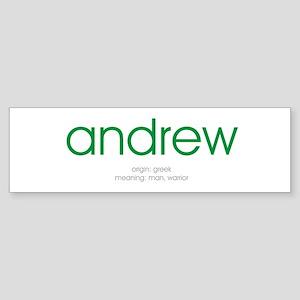 Andrew Bumper Sticker
