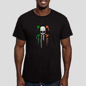 Irish Punk Skull Men's Fitted T-Shirt (dark)