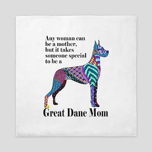 Great Dane Mom Queen Duvet