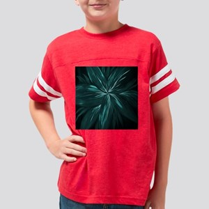 Floral Abstract Modern Shower Youth Football Shirt