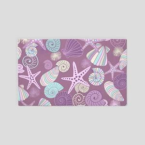 Starfish and Seashells 3'x5' Area Rug