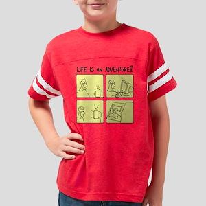 adv_squarewhite Youth Football Shirt