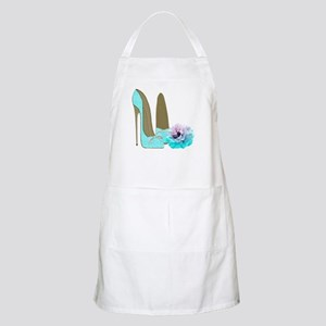 Turquoise Lace Stilettos and Rose Art Apron