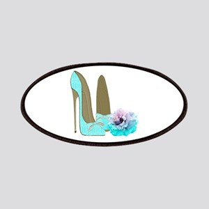 Turquoise Lace Stilettos and Rose Art Patches