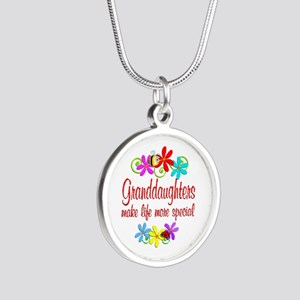 Special Granddaughter Silver Round Necklace