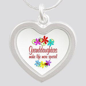 Special Granddaughter Silver Heart Necklace