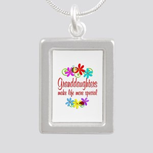 Special Granddaughter Silver Portrait Necklace