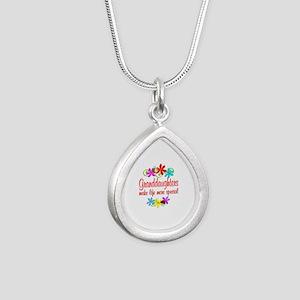 Special Granddaughter Silver Teardrop Necklace