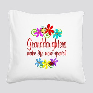 Special Granddaughter Square Canvas Pillow