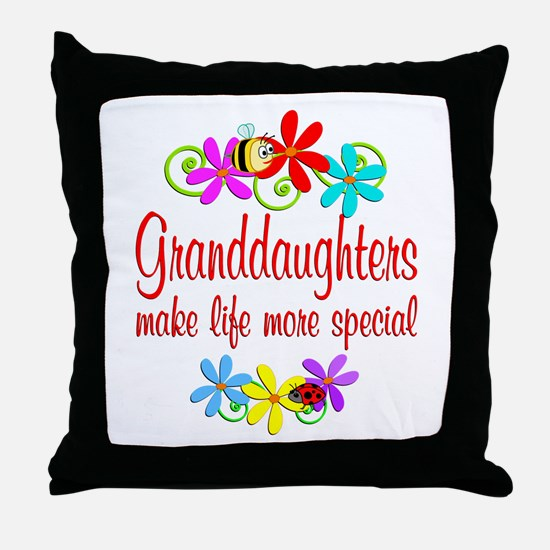 Special Granddaughter Throw Pillow