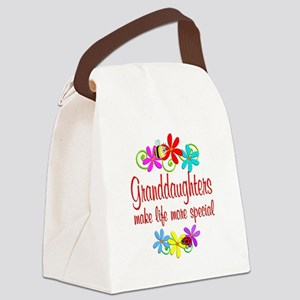 Special Granddaughter Canvas Lunch Bag