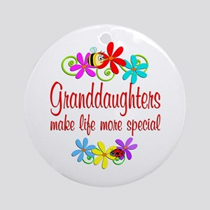 Special Granddaughter Ornament (Round)