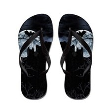 Spooky Night Sky Flip Flops