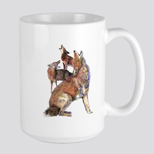Watercolor Howling Coyotes Animal Art Mugs