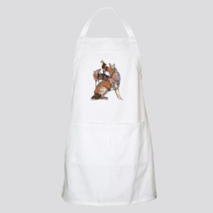 Watercolor Howling Coyotes Animal Art Apron