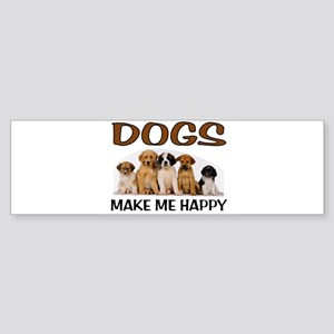 DOG HAPPY Bumper Sticker
