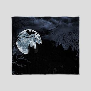 Spooky Night Sky Throw Blanket